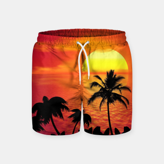 Miniature de image de Tropical Sea Sunset Palm Beach Pantalones de baño, Live Heroes