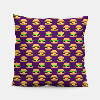 Thumbnail image of Burger Pattern Pillow, Live Heroes