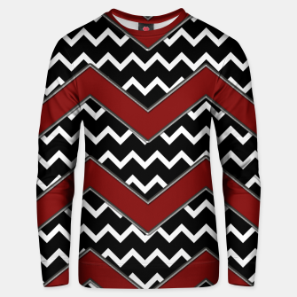 Thumbnail image of Black White Red Chevrons Unisex sweater, Live Heroes