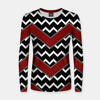 Thumbnail image of Black White Red Chevrons Women sweater, Live Heroes