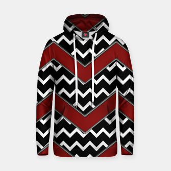 Thumbnail image of Black White Red Chevrons Hoodie, Live Heroes