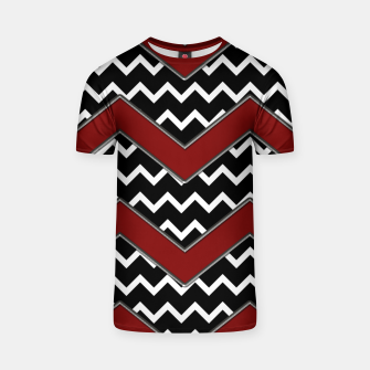 Thumbnail image of Black White Red Chevrons T-shirt, Live Heroes