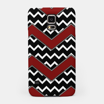 Thumbnail image of Black White Red Chevrons Samsung Case, Live Heroes
