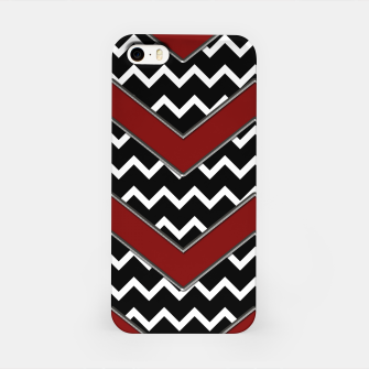 Thumbnail image of Black White Red Chevrons iPhone Case, Live Heroes