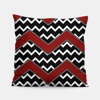 Thumbnail image of Black White Red Chevrons Pillow, Live Heroes