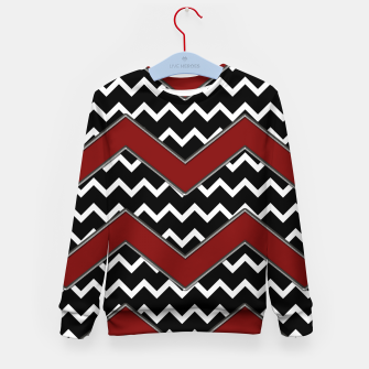 Thumbnail image of Black White Red Chevrons Kid's sweater, Live Heroes