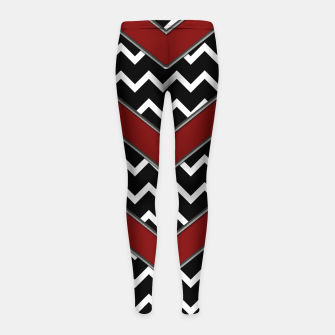 Thumbnail image of Black White Red Chevrons Girl's leggings, Live Heroes