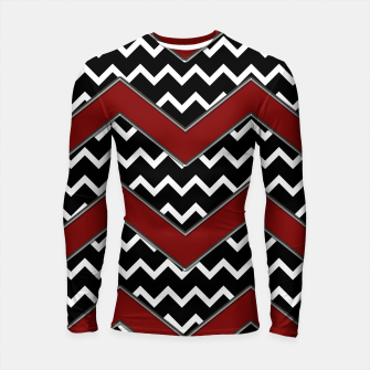 Thumbnail image of Black White Red Chevrons Longsleeve rashguard , Live Heroes