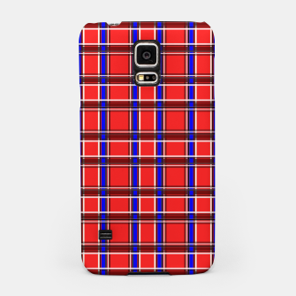 Imagen en miniatura de Red blue plaid tartan check checkered scottish Samsung Case, Live Heroes