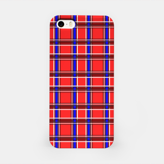 Imagen en miniatura de Red blue plaid tartan check checkered scottish iPhone Case, Live Heroes