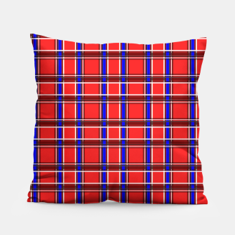 Imagen en miniatura de Red blue plaid tartan check checkered scottish Pillow, Live Heroes