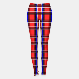Imagen en miniatura de Red blue plaid tartan check checkered scottish Leggings, Live Heroes