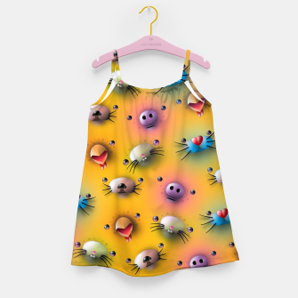 Imagen en miniatura de Cute animals pattern Girl's dress, Live Heroes