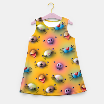 Imagen en miniatura de Cute animals pattern Girl's summer dress, Live Heroes
