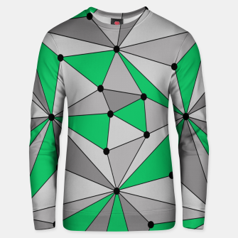 Thumbnail image of Abstract geometric pattern - green and gray. Unisex sweater, Live Heroes