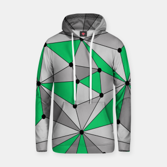 Thumbnail image of Abstract geometric pattern - green and gray. Hoodie, Live Heroes