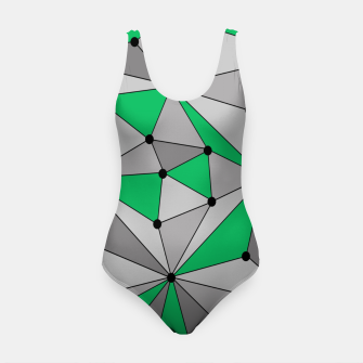 Thumbnail image of Abstract geometric pattern - green and gray. Swimsuit, Live Heroes