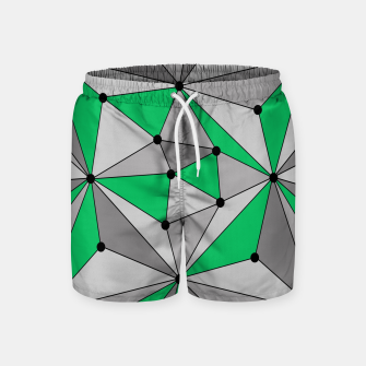 Thumbnail image of Abstract geometric pattern - green and gray. Swim Shorts, Live Heroes