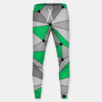 Thumbnail image of Abstract geometric pattern - green and gray. Sweatpants, Live Heroes