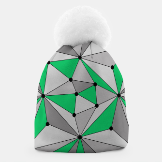 Thumbnail image of Abstract geometric pattern - green and gray. Beanie, Live Heroes