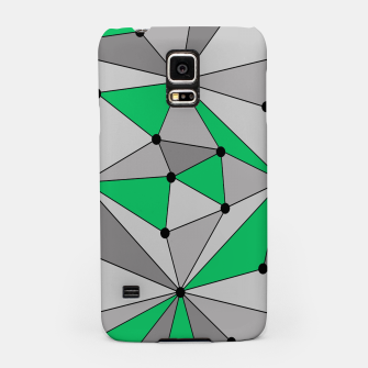 Thumbnail image of Abstract geometric pattern - green and gray. Samsung Case, Live Heroes