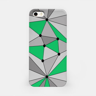 Thumbnail image of Abstract geometric pattern - green and gray. iPhone Case, Live Heroes