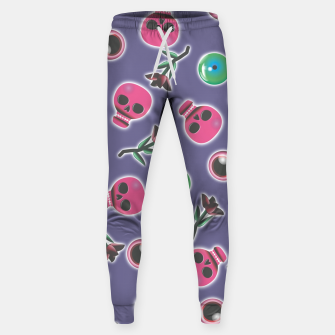Miniatur Skulls, eyes and roses Sweatpants, Live Heroes