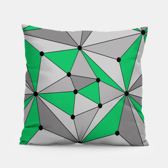 Thumbnail image of Abstract geometric pattern - green and gray. Pillow, Live Heroes