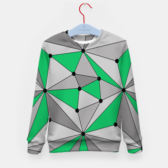 Thumbnail image of Abstract geometric pattern - green and gray. Kid's sweater, Live Heroes