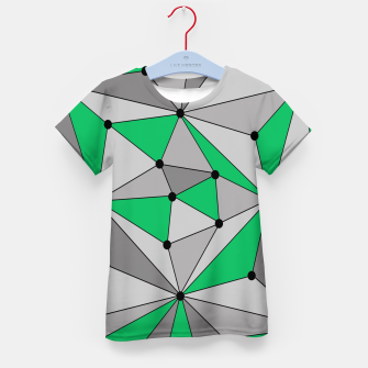 Imagen en miniatura de Abstract geometric pattern - green and gray. Kid's t-shirt, Live Heroes