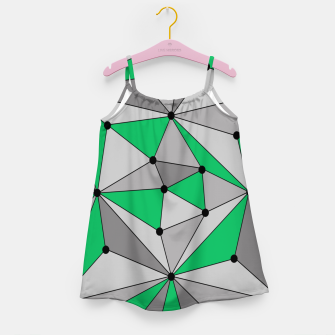 Thumbnail image of Abstract geometric pattern - green and gray. Girl's dress, Live Heroes