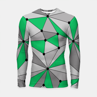 Thumbnail image of Abstract geometric pattern - green and gray. Longsleeve rashguard , Live Heroes