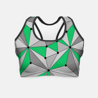 Thumbnail image of Abstract geometric pattern - green and gray. Crop Top, Live Heroes
