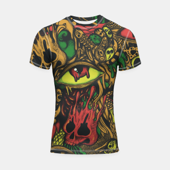 Miniatur Melting Color Shortsleeve rashguard, Live Heroes