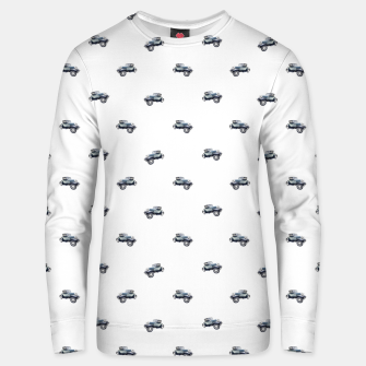 Thumbnail image of Vintage Car Motif Print Pattern Unisex sweater, Live Heroes