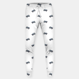 Thumbnail image of Vintage Car Motif Print Pattern Sweatpants, Live Heroes
