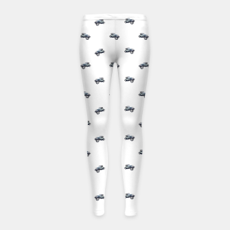 Thumbnail image of Vintage Car Motif Print Pattern Girl's leggings, Live Heroes