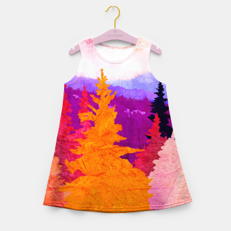 Miniatur One wood Girl's summer dress, Live Heroes