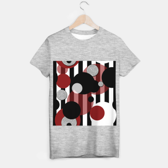 Thumbnail image of Black White Red Stripes Dots T-shirt regular, Live Heroes