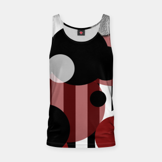 Thumbnail image of Black White Red Stripes Dots Tank Top, Live Heroes