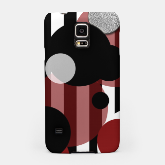 Thumbnail image of Black White Red Stripes Dots Samsung Case, Live Heroes
