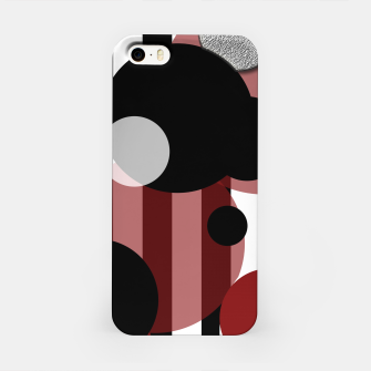 Thumbnail image of Black White Red Stripes Dots iPhone Case, Live Heroes