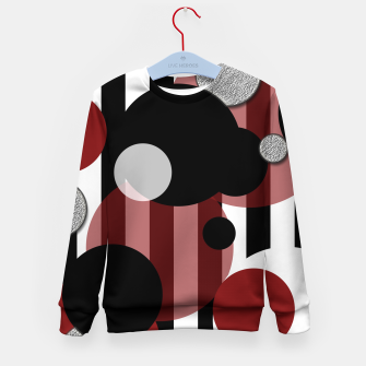 Thumbnail image of Black White Red Stripes Dots Kid's sweater, Live Heroes