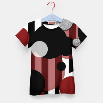 Imagen en miniatura de Black White Red Stripes Dots Kid's t-shirt, Live Heroes