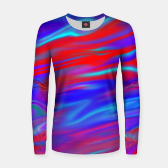 Thumbnail image of Blendy Red Blue Women sweater, Live Heroes
