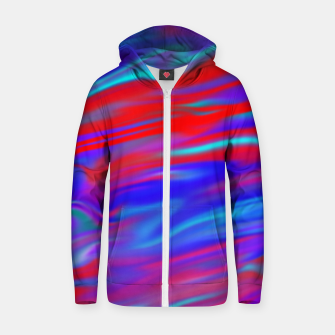 Thumbnail image of Blendy Red Blue Zip up hoodie, Live Heroes