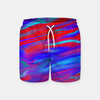 Thumbnail image of Blendy Red Blue Swim Shorts, Live Heroes