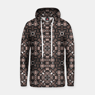 Thumbnail image of Brown dark ornament in moroccan or arabic portuguese spanish style Hoodie, Live Heroes