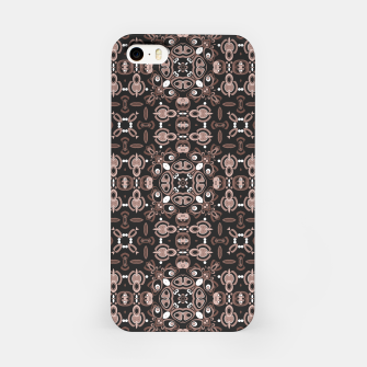 Miniatur Brown dark ornament in moroccan or arabic portuguese spanish style iPhone Case, Live Heroes