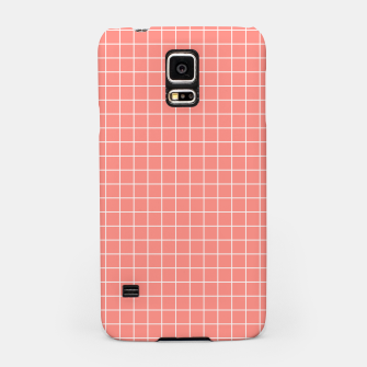 Imagen en miniatura de Coral plaid checkered check pink striped lined Samsung Case, Live Heroes